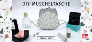 Muscheltasche nähen, gratis Anleitung und Schnittmuster